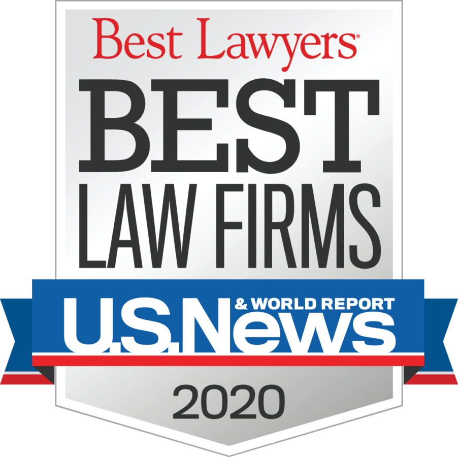 Rated Best Law Firms by U.S. News and World Report - 2020